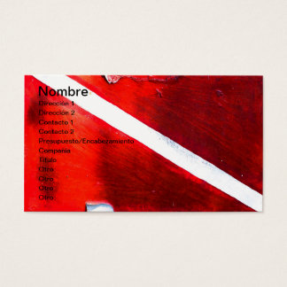 DIVE FLAG BUSINESS CARD