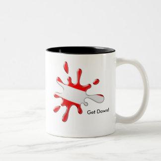 Dive Flag - Get Down! - mySplat.com Two-Tone Coffee Mug