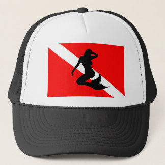 Dive Flag Mermaid Trucker Hat