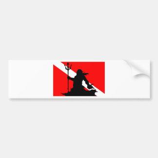 Dive Flag Neptune II Bumper Sticker