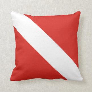 Dive Flag Throw Pillow
