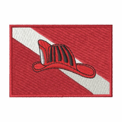 Dive Flag with fire Hat
