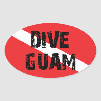 Dive Guam Oval Sticker