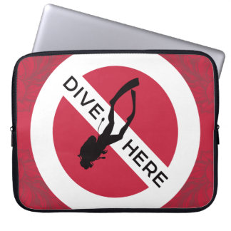 Dive Here Laptop Sleeve