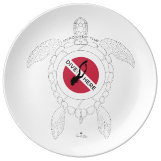 Dive Here Plate
