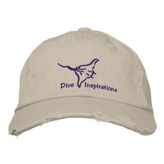 Dive Inspirations Flying Manta Embroidered Baseball Cap