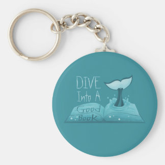 Dive into a Good Book Keychain