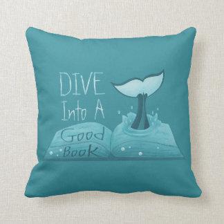 Dive into a Good Book Throw Pillow