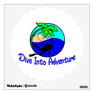 Dive Into Adventure Ocean Diver Wall Decal