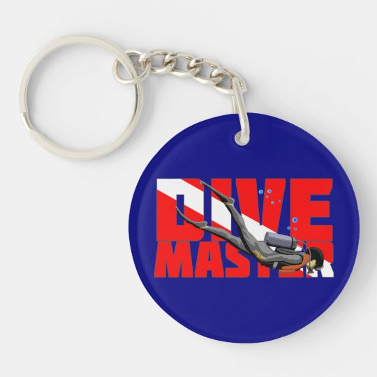Dive Master Double-Sided Round Acrylic Keychain