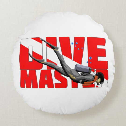 Dive Master Round Pillow