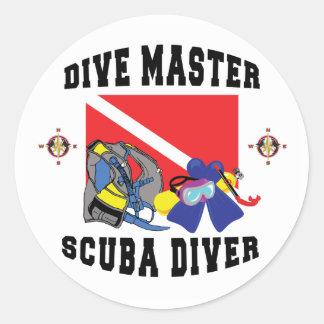 Dive Master SCUBA Diver Stickers