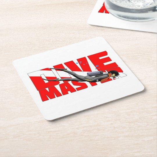 Dive Master Square Paper Coaster