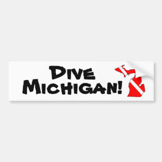 Dive Michigan! Bumper Sticker