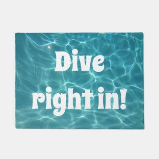 Dive Right in! Doormat