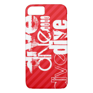 Dive; Scarlet Red Stripes iPhone 7 Case