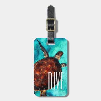 Dive Sea Turtle Luggage Tags