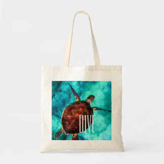 Dive Sea Turtle Tote Bag