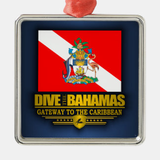 Dive the Bahamas 2 Metal Ornament