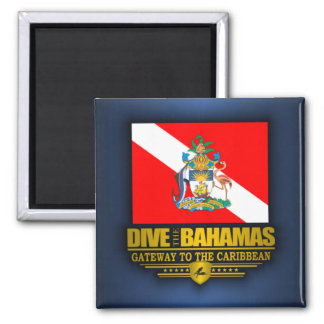 Dive the Bahamas 2 Square Magnet