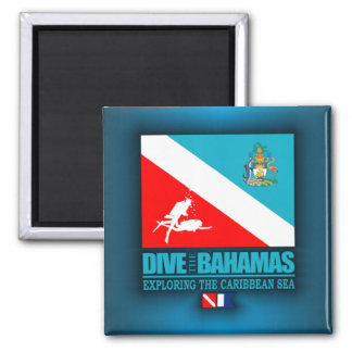 Dive The Bahamas Square Magnet