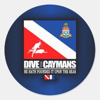 Dive The Caymans Round Sticker