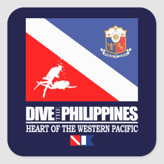Dive the Philippines Square Sticker