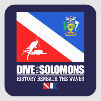 Dive the Solomons Square Sticker