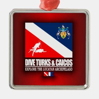 Dive Turks & Caicos Metal Ornament