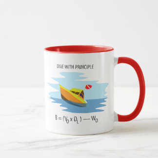 Dive With Archimedes Principle Mug