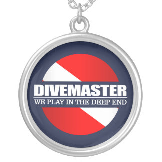 Divemaster (rd) silver plated necklace