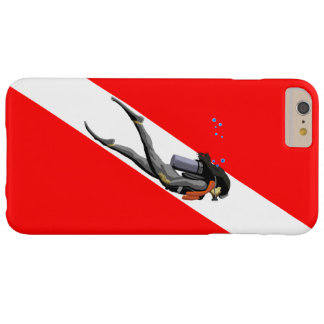 Diver And Dive Flag Barely There iPhone 6 Plus Case