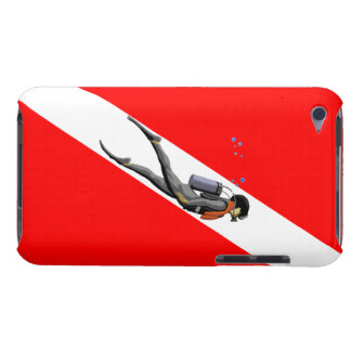 Diver And Dive Flag iPod Touch Cases