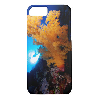 Diver and Soft Coral on the Great Barrier Reef iPhone 7 Case