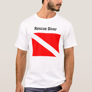 Diver Below Rescue Diver T Shirt