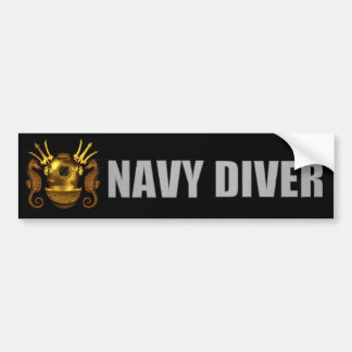 diver bumper sticker