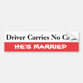 Diver Carries No Cash Bumper Sticker