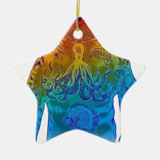 Diver Ceramic Ornament