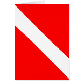 Diver Down Classic Flag Card