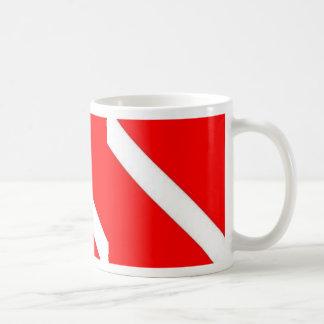 DIVER DOWN COFFEE CUP BASIC WHITE MUG