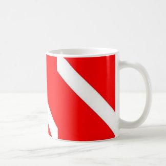 DIVER DOWN COFFEE CUP CLASSIC WHITE COFFEE MUG