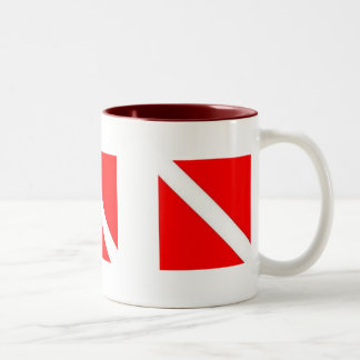 DIVER DOWN COFFEE CUP - great for travel! Two-Tone Mug
