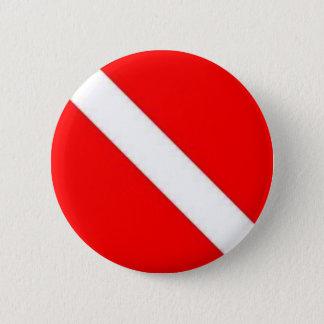 Diver Down Flag design 2 Inch Round Button