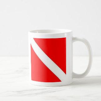 Diver Down Flag design Basic White Mug