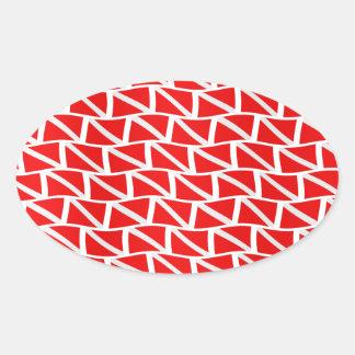 Diver down flag oval sticker