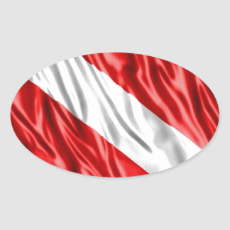 Diver Flag Oval Sticker