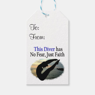 DIVER HAS NO FEAR JUST FAITH PACK OF GIFT TAGS
