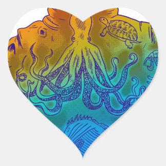 Diver Heart Sticker