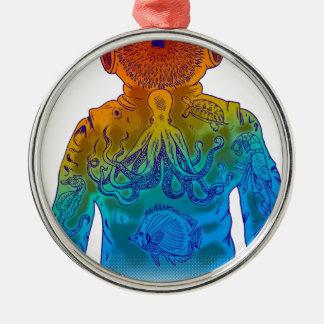 Diver Metal Ornament