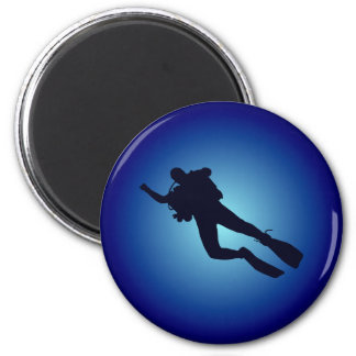Diver more diver 2 inch round magnet